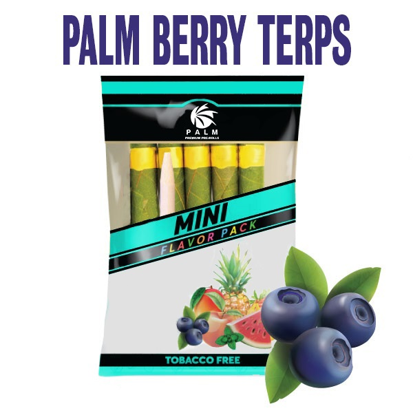 berry terps cbd pre rolls, indica, palm pre rolls products